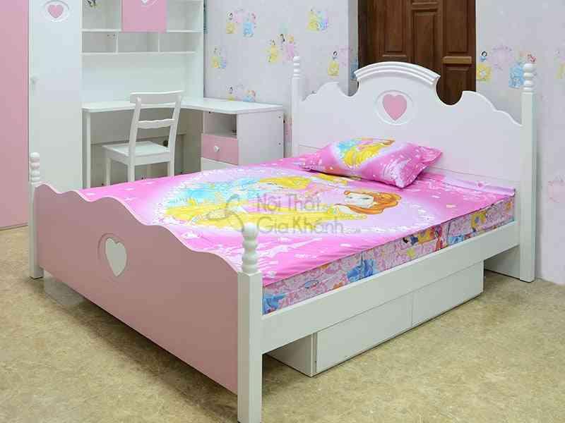 Giường ngủ trẻ em đẹp giá rẻ nhất - giuong ngu trai tim hong 99a12