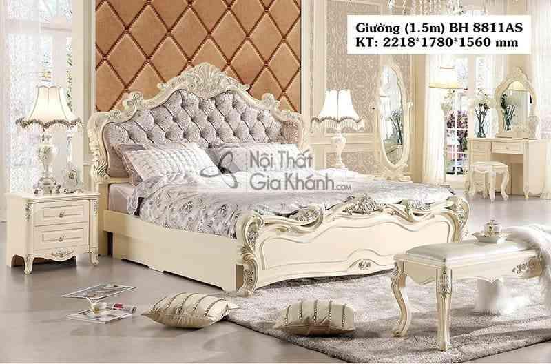 Giường tân cổ điển 1m5 giá rẻ BH8811AS