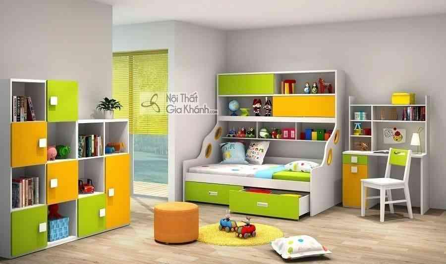 Giường Tomy 2 tầng có giá sách tiện lợi W865 – Y1G1