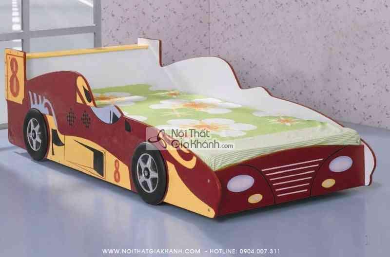 Giường xe ô tô số 8 màu đỏ gỗ ép MFC F1-10