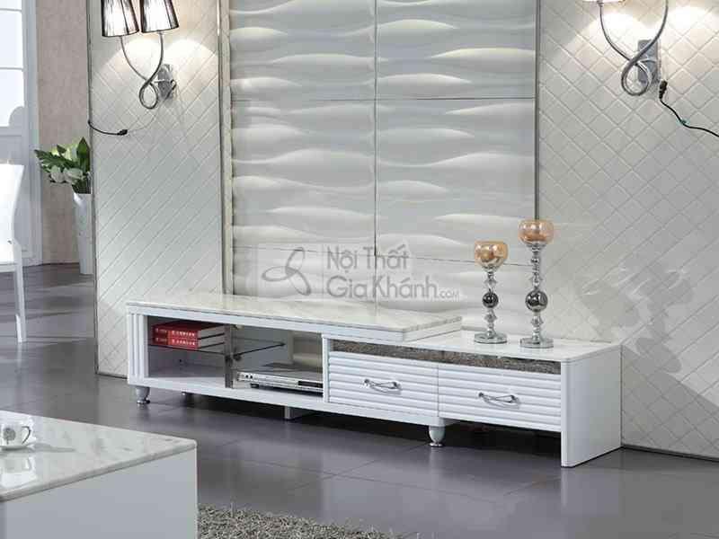 Kệ tivi cho phòng khách nhỏ. Thiết kế đa năng tiết kiệm diện tích - ke tivi da nang mat da gia re y2008082