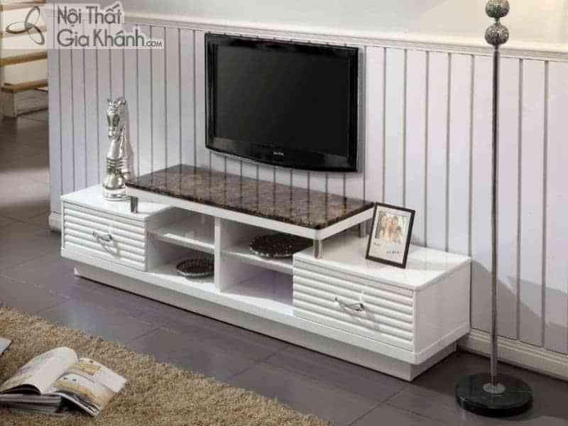 Bí quyết lựa chọn Kệ tivi phòng khách nhà ống sao cho đẹp nhất - ke tivi mat da mau nau hy2004041