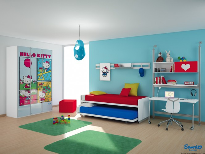 mau-nha-dep-Hello-Kitty-theme-room-665x498