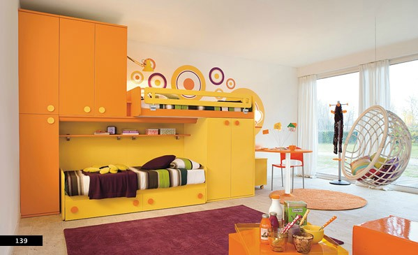 mau-nha-dep-bedrooms-for-kids-showing-artist-stlyes-