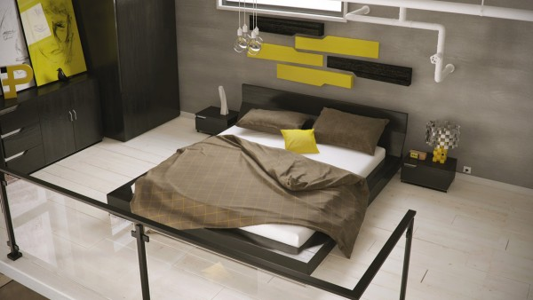 mau-nha-dep-black-and-yellow-bedroom-600x338