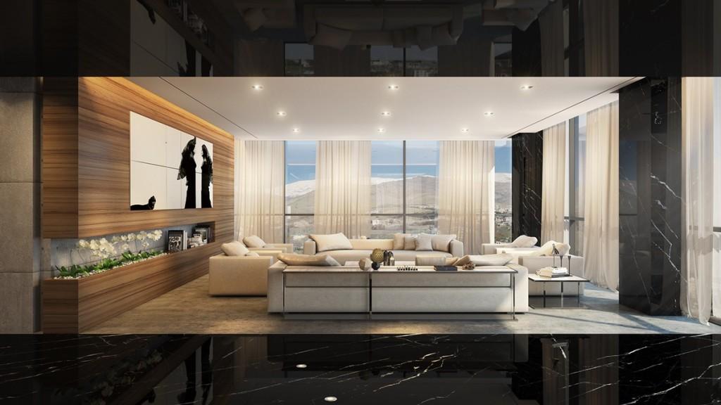 Mẫu thiết kế nhà cực sang trọng - mau nha dep black marble luxury apartment 1024x576