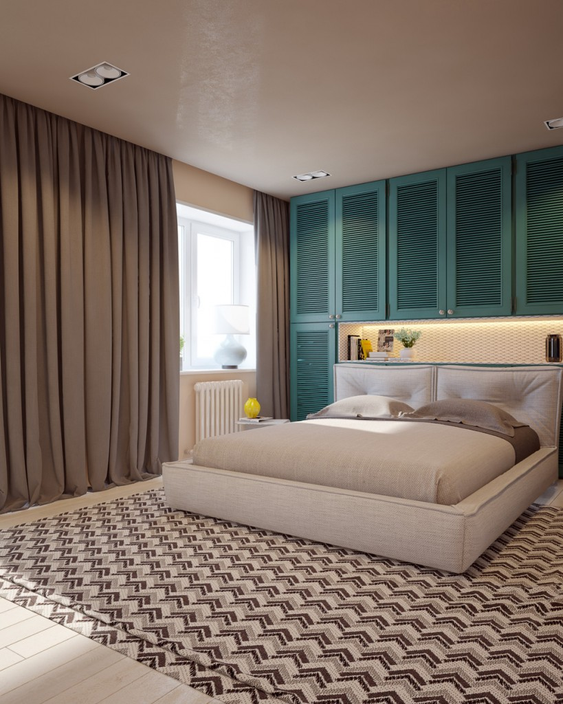 mau-nha-dep-cream-and-teal-bedroom-decor