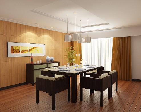 Mẫu phòng ăn ấn tượng và ấm cúng - mau nha dep jinkazamah 495x392