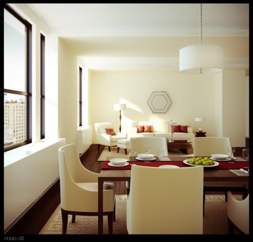Mẫu phòng ăn ấn tượng và ấm cúng - mau nha dep kehoala 495x474