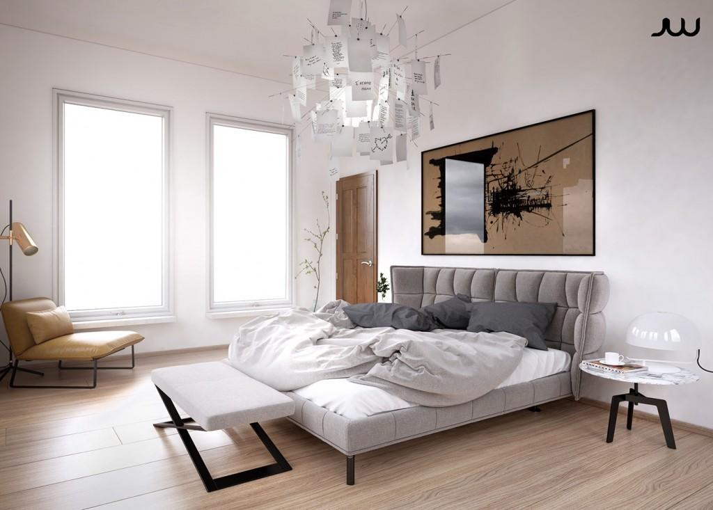 Mẫu thiết kế nhà cực sang trọng - mau nha dep luxury apartment bedroom 1024x733