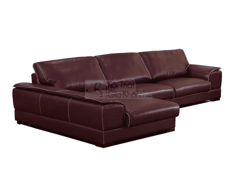 Sofa da bò Ý cao cấp 2 băng góc phải 6916