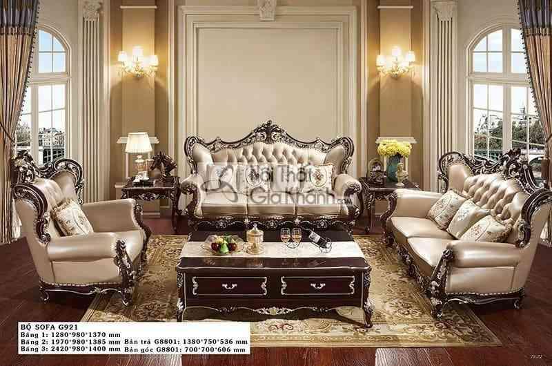 Sofa tân cổ điển da phong cách Pháp sang trọng G921SF - sofa tan co dien da phong cach phap sang trong g921sf