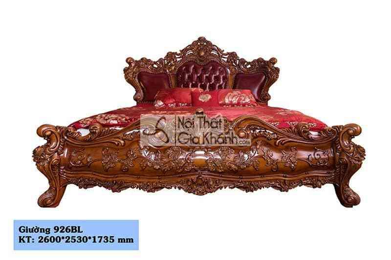 tab dau giuong go go do cao cap 926b 2 - Mẫu Giường Gỗ Gõ Đỏ Tự Nhiên Đẹp Nhất Hà Nội