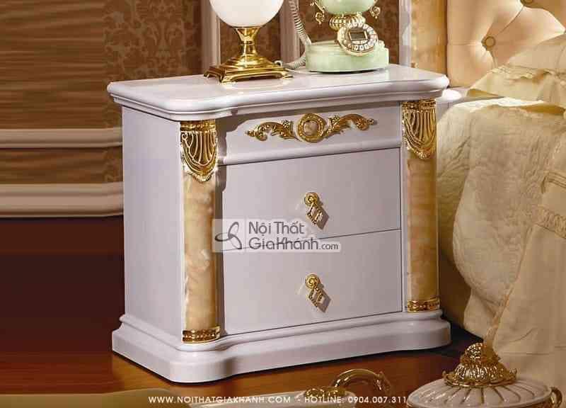 tap dau giuong dinh da hong ngoc kh3028b - Tủ đầu giường gỗ cao cấp phong cách hoàng gia TA3028