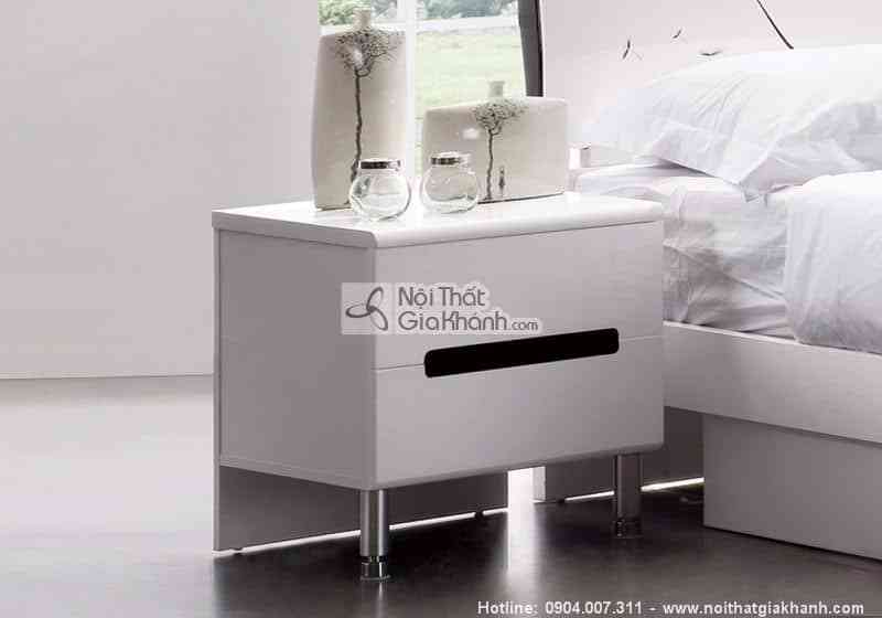 tap dau giuong tien dung hd201b - Bộ phòng ngủ cánh hoa màu trắng đen sang trọng HĐ201BG