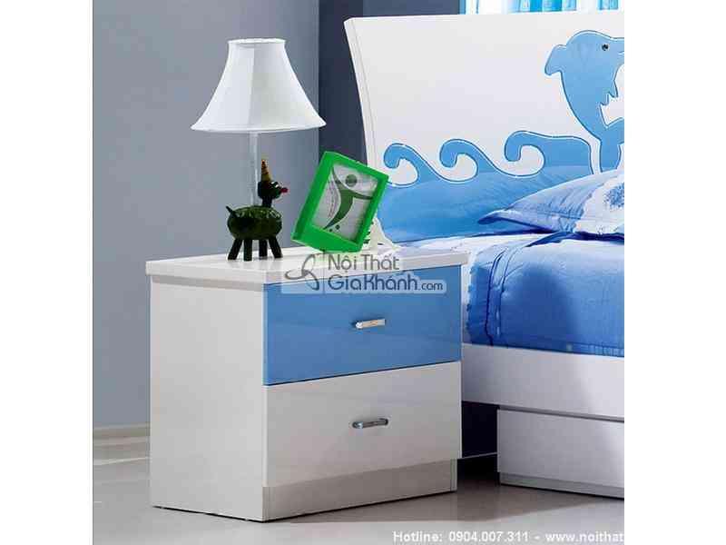 Táp đầu giường trắng xanh H602-4