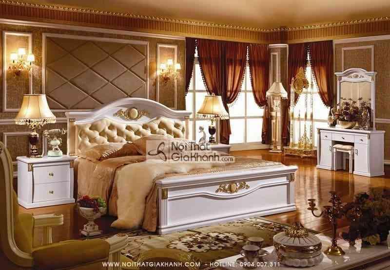 Thiết kế nội thất phòng ngủ cổ điển cực sang trọng - thiet ke noi that phong ngu co dien cuc sang trong 1