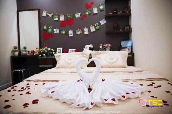 Trang trí phòng cưới đẹp đảm bảo cô dâu mới cực kỳ hạnh phúc.