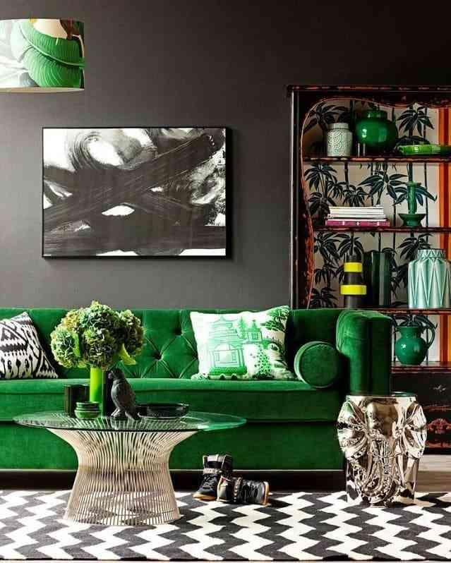Trang trí phòng khách độc đáo với bộ sofa màu xanh tươi mát - Phụ kiện