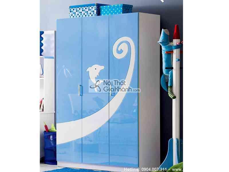 Tủ đựng quần áo trẻ em giá rẻ cho bé - tu ao ca heo dai duong xanh h602 5
