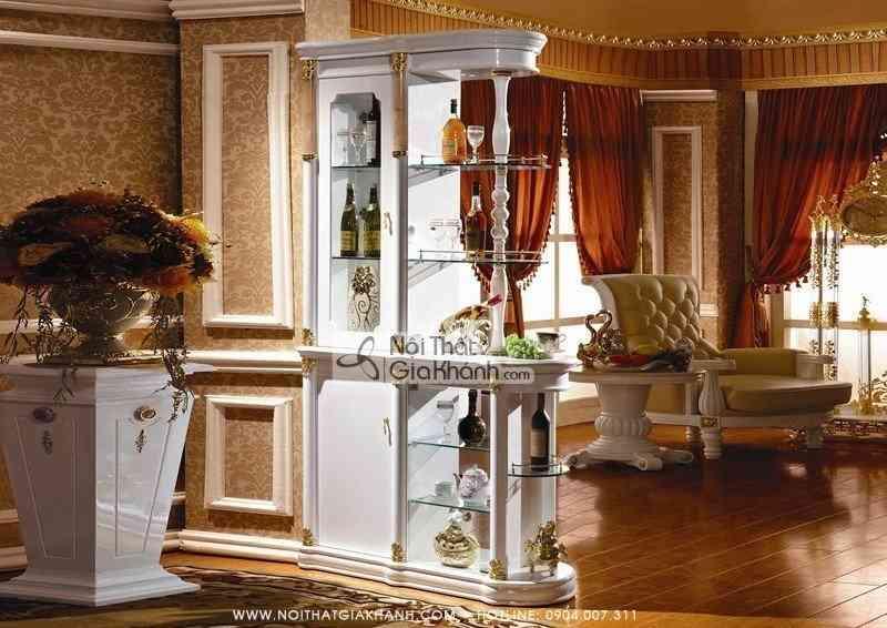 Tủ rượu trang trí 2 mặt phong cách cổ điển KH3003HM - tu ruou trang tri 2 mat phong cach co dien kh3003hm