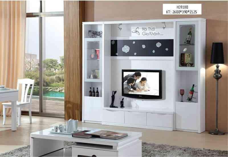 Tuyệt chiêu dùng kệ trang trí tivi bằng gỗ, kệ tivi decor cực đẹp mắt
