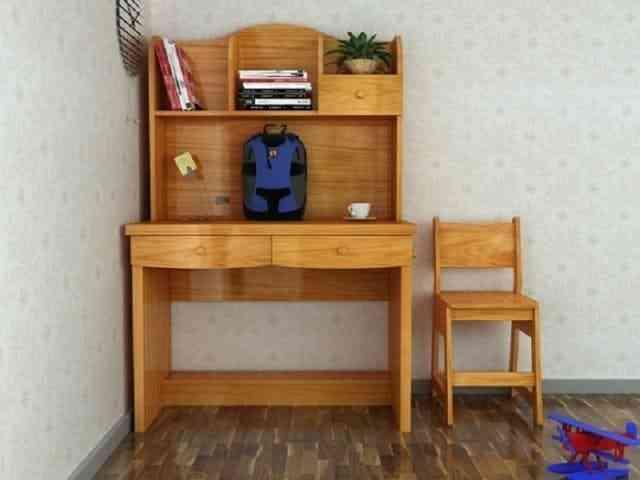 Bàn học sinh gỗ tự nhiên chất lượng cao và bền đẹp (04)