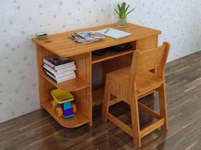 Bàn học sinh gỗ tự nhiên chất lượng cao và bền đẹp