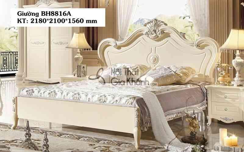 Giường tân cổ điển 1m8 giá rẻ BH8816AL