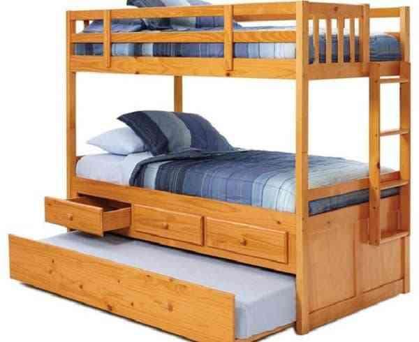 Giường tầng trẻ em gỗ tự nhiên bền đẹp - giuong tang tre em go tu nhien ben dep