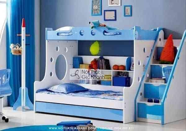 Sắm giường tầng cho bé trai và bé gái xinh xắn và an toàn