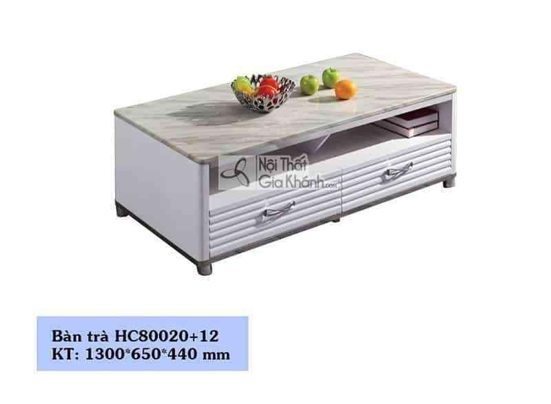 Bàn trà (Bàn Sofa) hiện đại mặt đá phòng khách sang trọng HC80020+12 - ban an mat da cong nghiep kich thuoc nho t16803b1m23 2