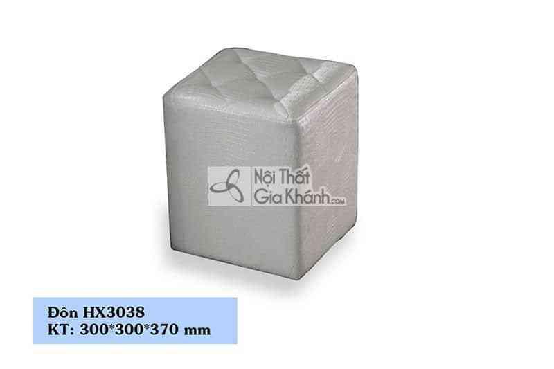 Đôn sofa da màu trắng nhỏ gọn HX3038