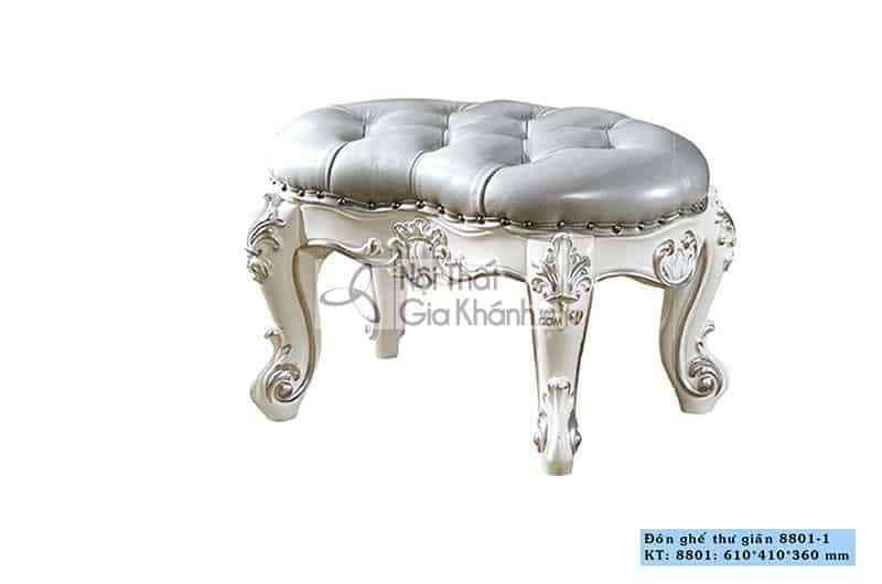 Đôn sofa tân cổ điển sang trọng H8801ĐN (Size Nhỏ)