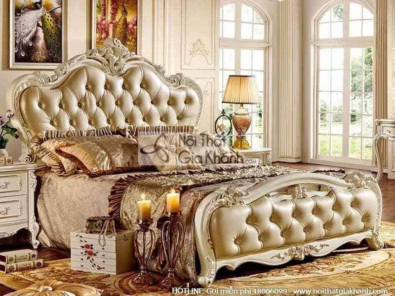 Giường ngủ bọc da thoải mái