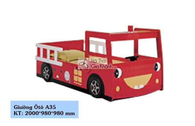 Giường xe cứu hỏa 1 tầng cho bé A35 - giuong xe cuu hoa 1 tang cho be a35