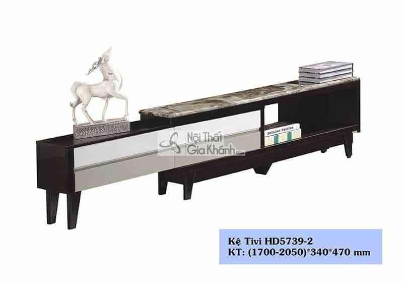 Tủ tivi phòng khách gỗ công nghiệp đa năng hiện đại mặt đá HD5739-2 - ke ti vi da nang mat kinh gia da phong cach hien dai hc5732 1 3