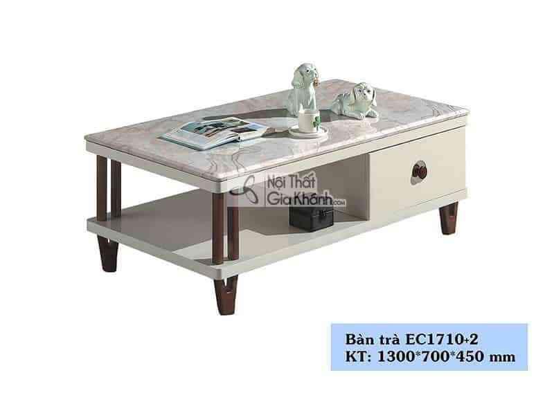 Bàn trà (Bàn Sofa) gỗ hiện đại mặt đá phòng khách sang trọng EC1710+2 - EC1710EC17102 1