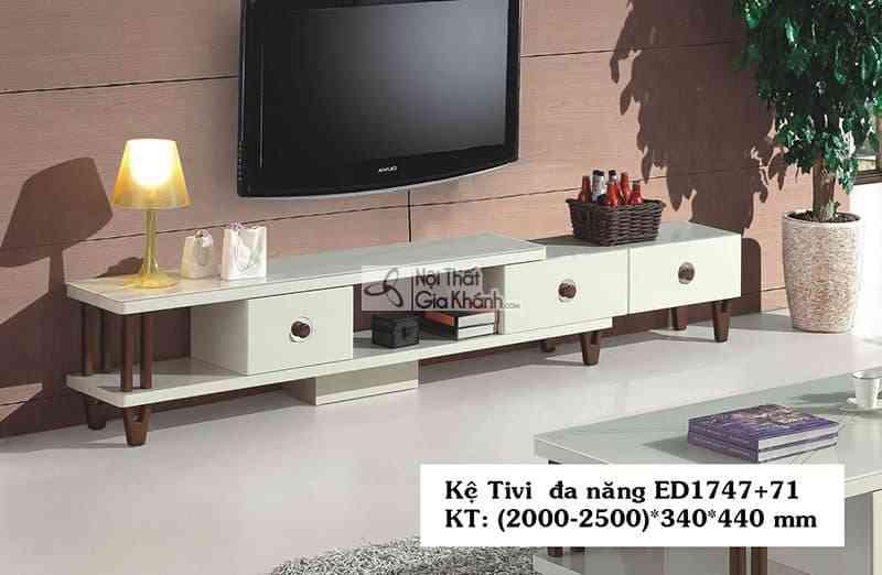 Kệ tivi đa năng hiện đại gỗ công nghiệp mặt kính cường lực ED1747+71 - ED1747ED17471