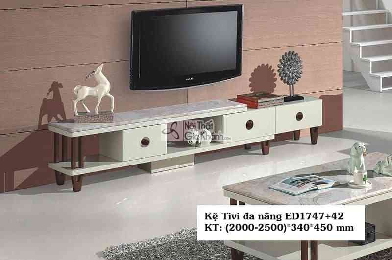 Kệ tivi acrylic đa năng hiện đại gỗ công nghiệp mặt đá ED1747+72 - ED1747ED17472