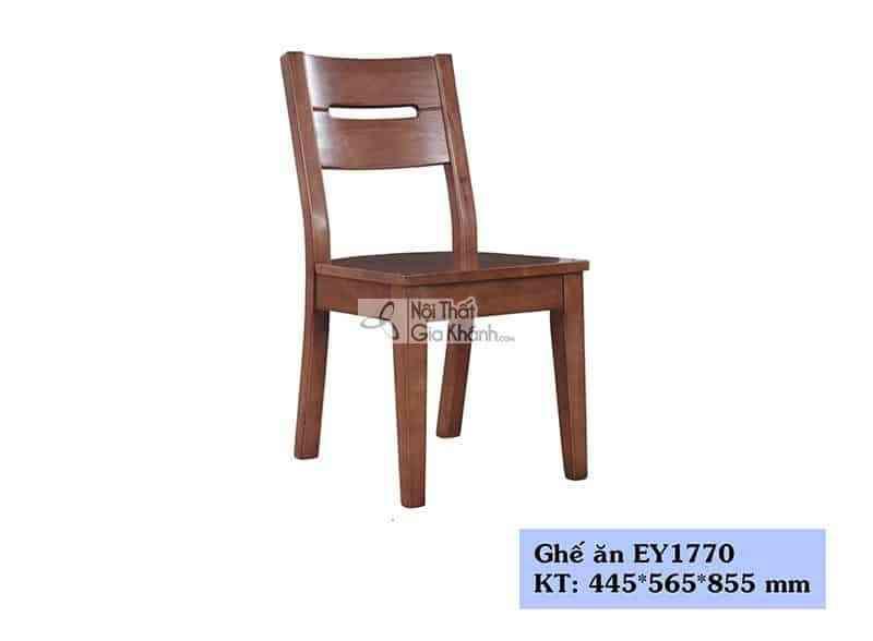 Ghế ăn gỗ công nghiệp màu nâu sang trọng EY1770 - EY1770