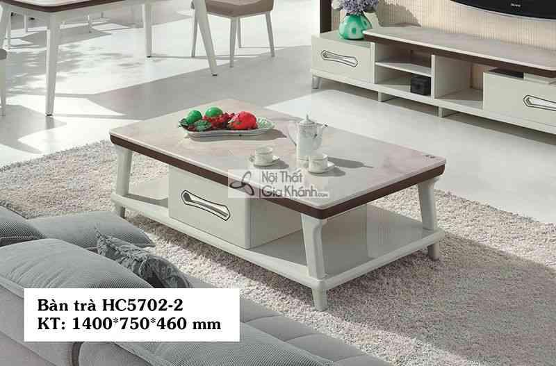 Bàn trà (Bàn Sofa) gỗ hiện đại mặt đá phòng khách đơn giản HC5702-2 - HC5702HC5702 2