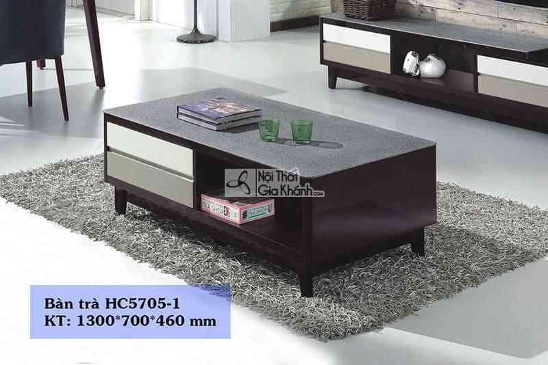 Bàn trà (Bàn Sofa) nhỏ gọn gỗ mặt kính phòng khách hiện đại HC5705-1 - HC5705HC5705 1
