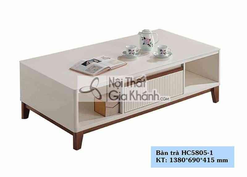 Bàn trà (Bàn Sofa) gỗ mặt kính cường lực nhập khẩu cao cấp HC5805-1 - HC5805 1