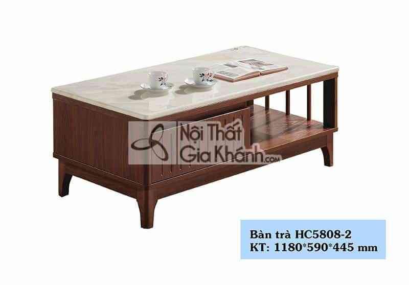Bàn trà (Bàn Sofa) nhỏ xinh hiện đại gỗ mặt đá cao cấp 1m18 HC5808-2 - HC5808 2
