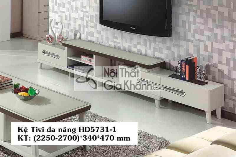Kệ để tivi 55 inch đa năng gỗ công nghiệp mặt kính cường lực HD5731-1 - HD5731 1