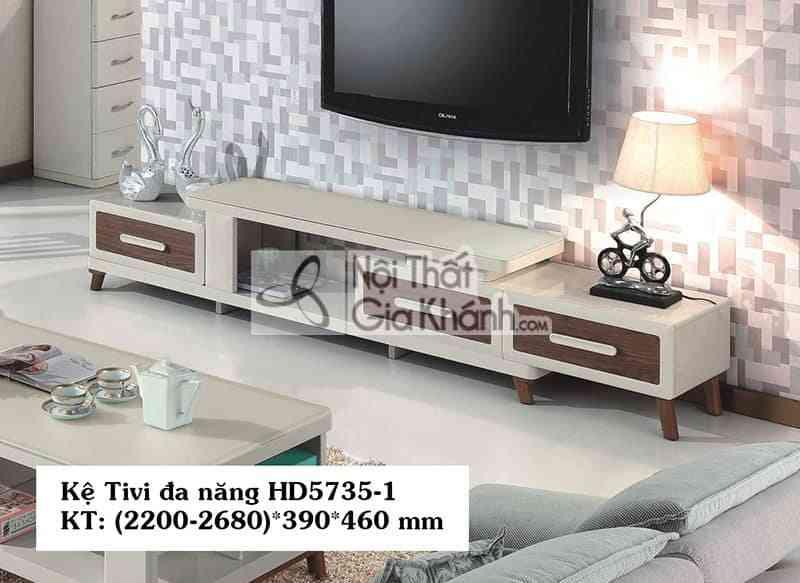 Kệ tivi đa năng hiện đại gỗ công nghiệp mặt kính nhập khẩu HD5735-1 - HD5735 1