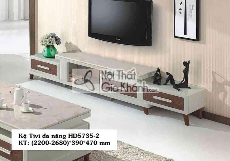 Kệ tivi đa năng phòng khách hiện đại gỗ công nghiệp mặt đá HD5735-2 - HD5735 2