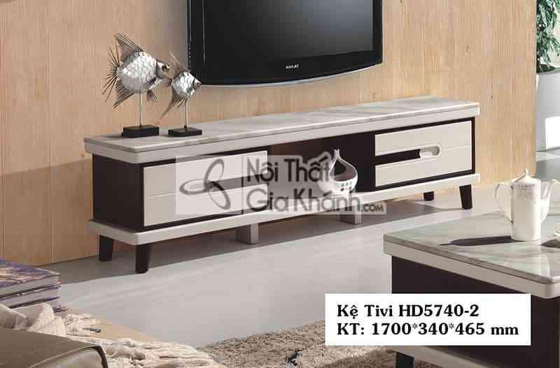 Kệ tivi hiện đại phòng khách 1m7 gỗ công nghiệp mặt đá HD5740-2 - HD5740 2
