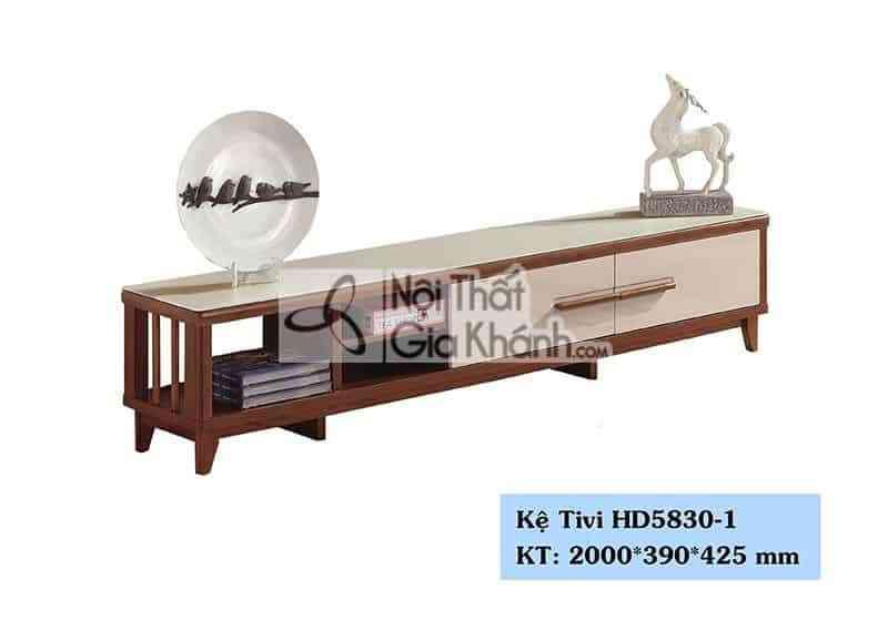 Kệ tivi phòng khách hiện đại gỗ công nghiệp mặt kính cường lựcHD5830-1 - HD5830 1